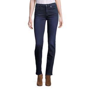 7 FOR ALL MANKIND Slim Straight Dark Wash Jeans